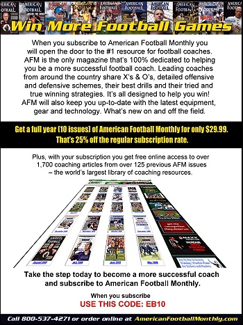 American Football Monthly House Ad - Eastbay Promotion