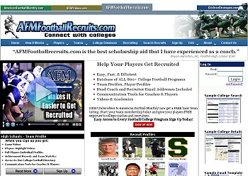 AFM Football Recruits Web Site